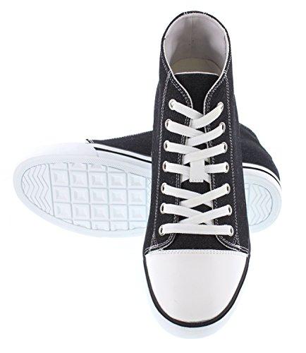 K-CALDEN 8828102-(3 7,62 cm, altezza Inches)-Tappetto aumentare ascensore Scarpe da ginnastica da donna, in tela, colore: nero