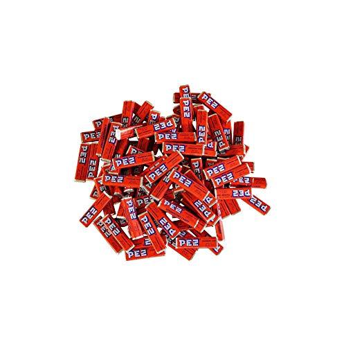 Pez Candy Single Flavor 2 Lb Bulk Bag (Strawberry) Red Candy (Pez Strawberry Refill)