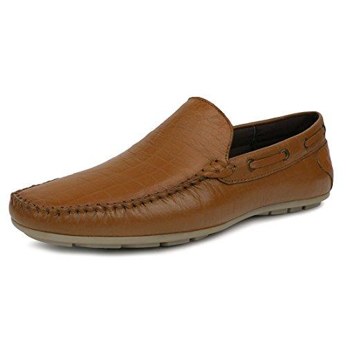 Escaro Men's Venice Patent Croc Boat Loafer