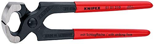 Knipex 51 01 210 Hammerzange schwarz atramentiert mit Kunststoff überzogen 210 mm