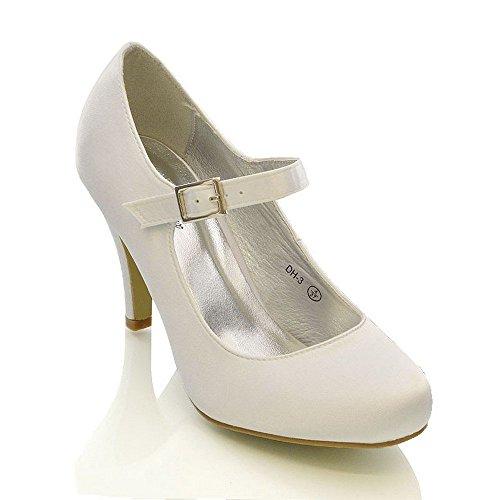 FRAUEN HOCHZEIT Gericht 6 Brautjungfern White 42 UK EU Größe SATIN STILETTO WEIßER US 4 BRAUT Schuhe ELFENBEIN 11 HEELS 8 DAMEN 9 7 Satin 5 rrz06