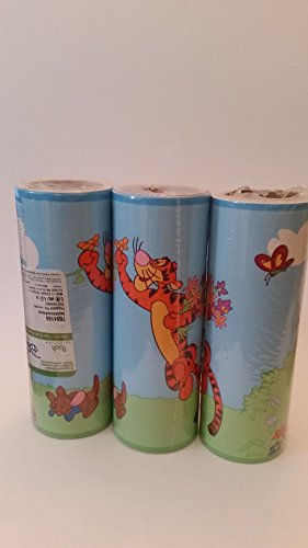 Disney Pooh Collection: Tigger and little Roo Wallpaper border: Three borders (Disney Pooh Winnie Wallpaper Border The)