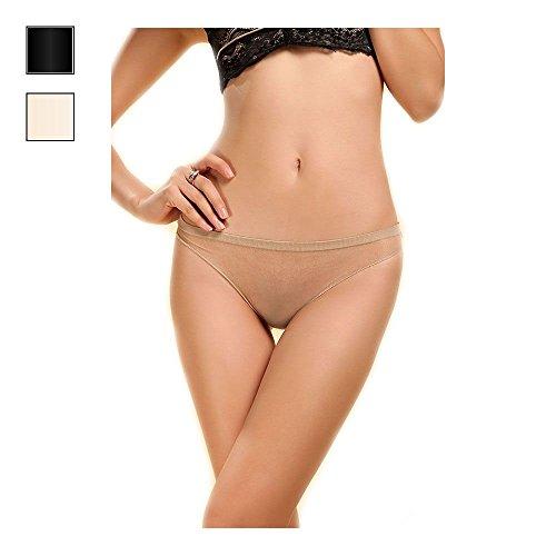 5D Seamless Women's Sheer Sexy See Through Nylon Underwear Thong