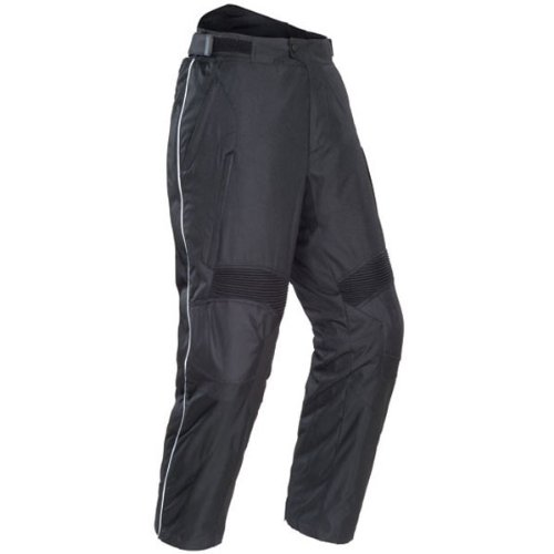 Tour Master Overpant Men's Textile Sports Bike Racing Motorcycle Pants - Black / Short Large