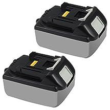 Topbatt 18v 3.0ah Li-Ion Rechargeable Battery for Makita Bl1830 Bl1815 Bl1835 194205-3 Lxt-400 (2 Packs)