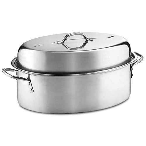 Wilton 3-Piece Stainless Steel Covered Oval Roaster Set 3 Piece Roaster Set