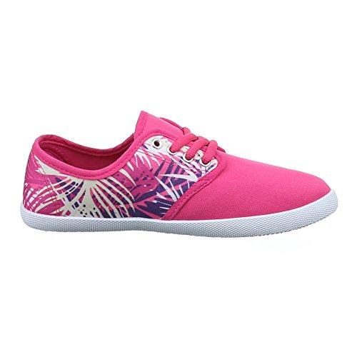 Schnürer Freizeitschuhe Schuhe Ital SCHNEAKERS Damen Design Y Pink 089 xwqwgHp0nU