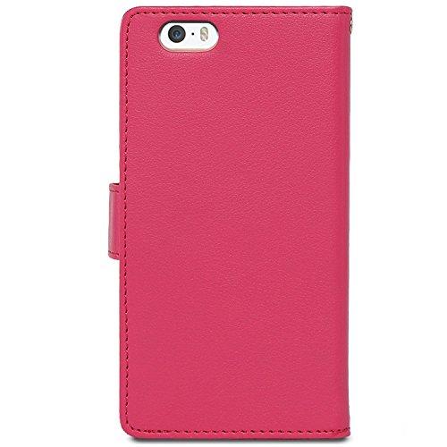 Iphone 7 case, [Rich Diary] VENTER® [Drop Protection] [Wallet Hülle] Premium-Soft-Kunstleder Hülle [ID Card & Cash-Slot] Abdeckung für Iphone 7
