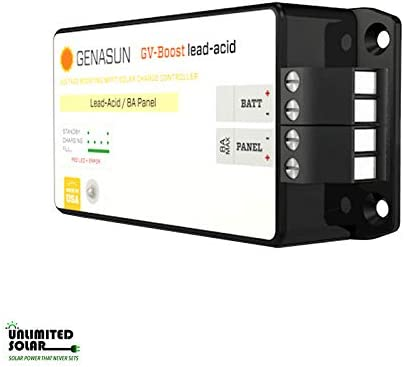 Genasun GVB-8-Pb-48V, GV-Boost 8 Amp 48 Volt MPPT Solar Boost Charge Controller for Lead Acid Batteries