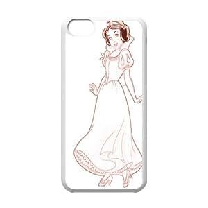 Princess Snow White Frozen Logo Semi Clear Transparent Case for Iphone 5c AML206877