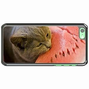 iPhone 5C Black Hardshell Case watermelon bite Desin Images Protector Back Cover