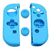 Jietron Silicone Case Kit for Nintendo Switch Joy-con Controller(2 silicone case and 2 thumb grips)-Blue For Sale