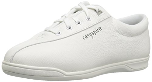 Easy Spirit AP1 Sport Walking Shoe, White Leather, 7.5 D from Easy Spirit