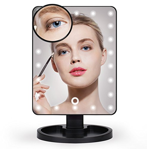 Aimimami Lighted Makeup Mirror, LED Vanity Mirror with 22 LE
