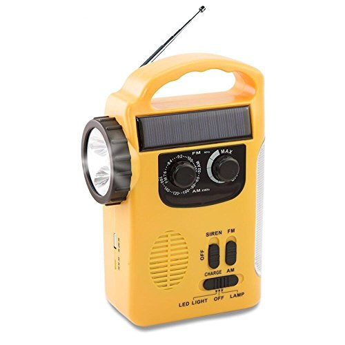 XIAOKOA Dynamo Emergency Solar Hand Crank Self Powered AM/FM/SW NOAA...
