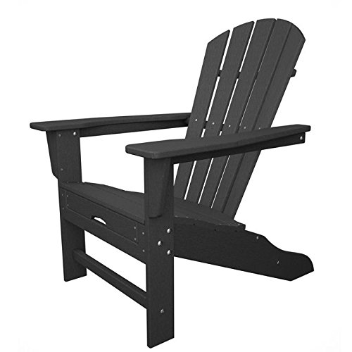 POLYWOOD HNA15GY Palm Coast Adirondack Chair, Slate Grey Review