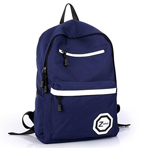 Doble SunBao mochila bandolera, mochilas escolares a alumnos de secundaria y de ocio y deporte paquete pc paquetes turísticos preppy mujer, Blue Sky Blue Azul oscuro, azul oscuro