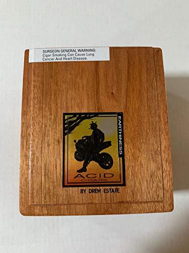 Empty Premium Acid Cigar Box - Hinged Lid by ACID - Estate Cigars Acid Drew