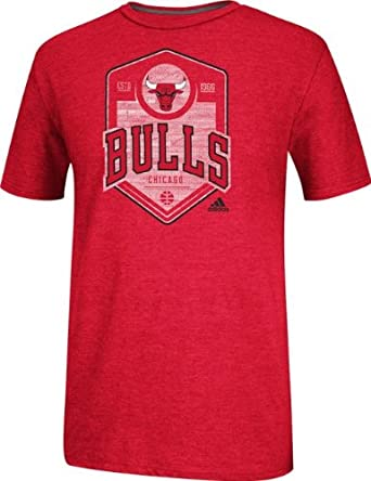 Chicago Bulls Adidas rojo atrás camiseta, Rojo