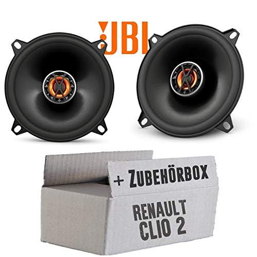 Renault Clio 2 Front Heck - Lautsprecher Boxen JBL Club 5020   2-Wege   13cm Koax Auto Einbausatz - Einbauset JUST SOUND best choice for caraudio
