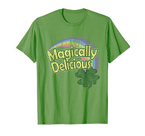 Magically Delicious Rainbow Retro St. Patrick's Day T-Shirt -