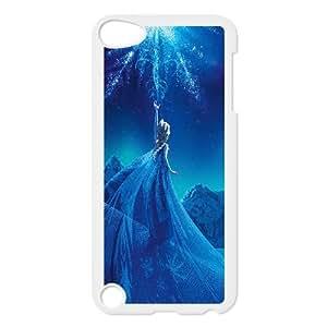 iPod Touch 5 Case White ac69 elsa frozen queen disney illust snow art Utbuv