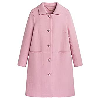 Amazon.com: Urlazh Pink Single Breasted Womens Wool