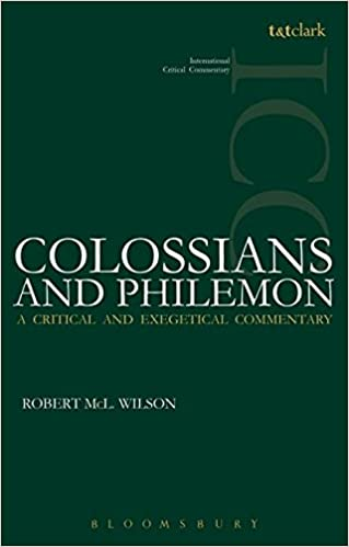 Colossians and philemon international critical commentary robert colossians and philemon international critical commentary robert mcl wilson christopher m tuckett graham i davies 9780567101235 amazon books fandeluxe Images