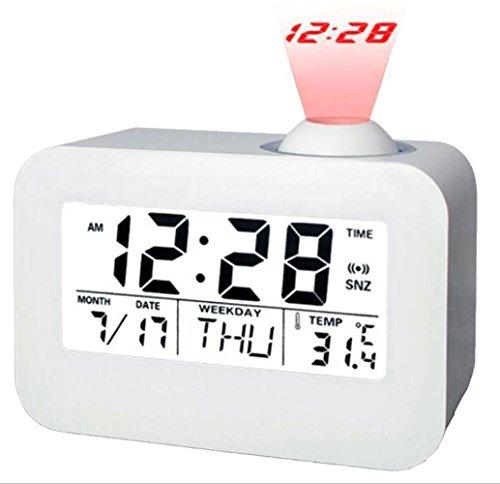 Modernos relojes de alarma Proyección Reloj Despertador ...