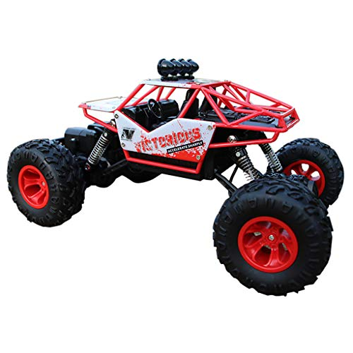 Binory RC Car 1/16 4WD Remote Control Vehicle 2.4Ghz Electric Alloy Buggy Off-Road,High Speed Four-Wheel Truck Model Toy Birthday Gift for Kids ()