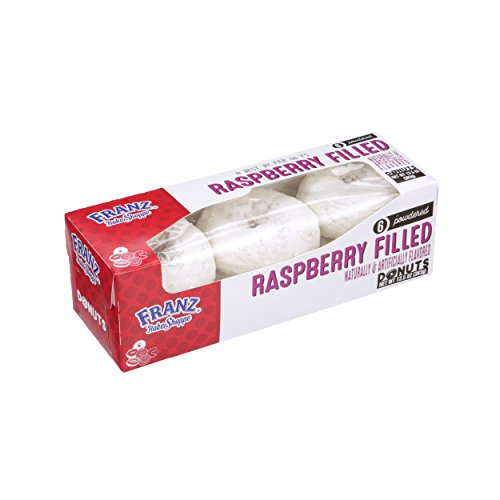 Franz Raspberry Filled Powdered Sugar Donuts, 6 ct, 13.5 oz