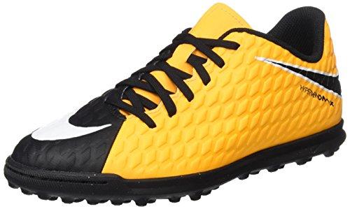 Nike Jr Hypervenomx Phade III TF, Botas de futbol Unisex Adulto, Naranja (Laser Orange/Black/Black/Volt), 38 EU