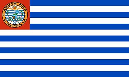 magFlags Large Flag Santa Ana, El Salvador   Departamento y municipio de Santa Ana, El Salvador   Landscape Flag   1.35m²   14.5sqft   90x150cm   3x5ft - 100% Made in Germany - Long Lasting