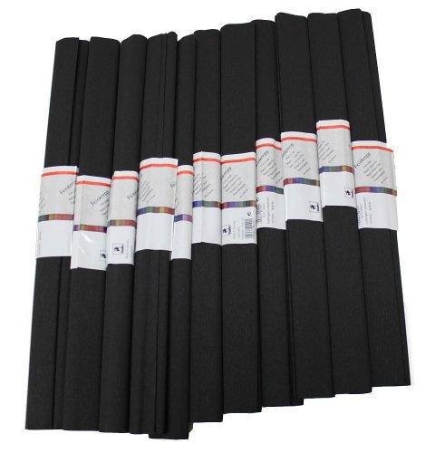 Krepp Papier 50 x 250 cm, schwarz 1 Stueck(10 Rolle)