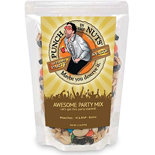 (Punch in the Nuts Trail Mix - Mixed Nuts, M&M's, Raisins - Gag Gifts for Men - Made in the USA Snacks)