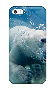 Protective Tpu Case With Fashion Design For Iphone 5/5s Polarbears
