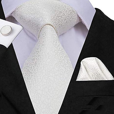 HYCZJH Corbata Negra de Seda para Hombre, Corbata Negra, para ...