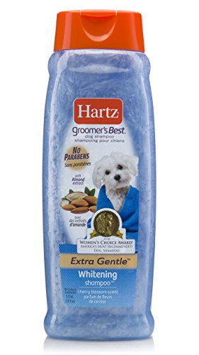 Hartz Groomer's Best Whitening Dog Shampoo, 18 Ounce Bottle (Bottle 18 Oz Shampoo)