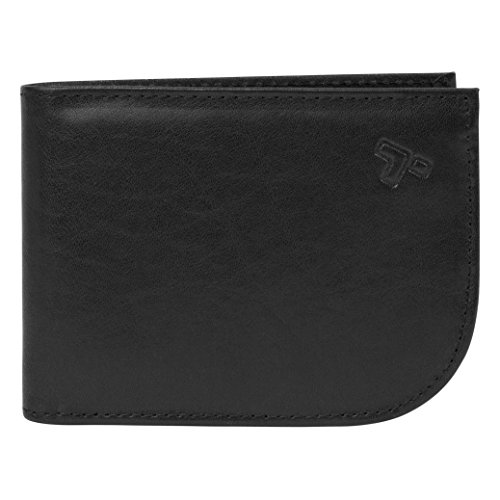 Travelon Safe ID Leather Front Pocket Wallet, Black, One Size