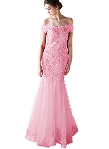 Prom Long Pink Bridal Mermaid Long Women's A004 Gowns Formal Dress Aurora 2018 BIfq6wx