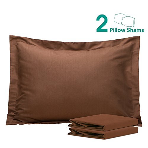NTBAY 100% Brushed Microfiber Pillow Shams Set of 2, Soft and Cozy, Wrinkle, Fade, Stain Resistant, 20