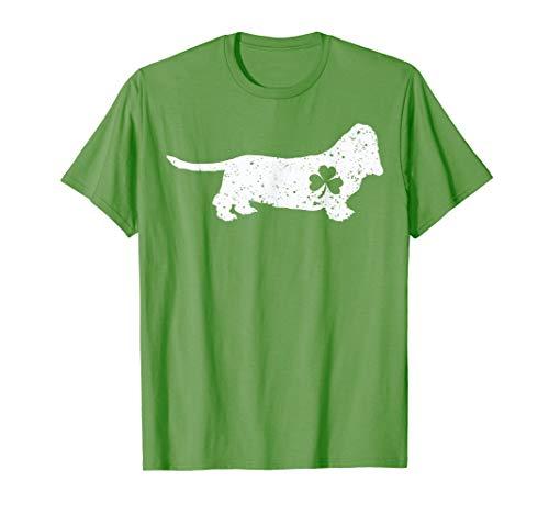 Funny Dog Lover Basset Hound Shirt St Patrick's Day Gift