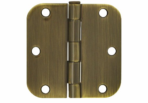 6 Pack Antique Brass Finish Interior Exterior Door Hinges (3 1/2 Inch 3.5
