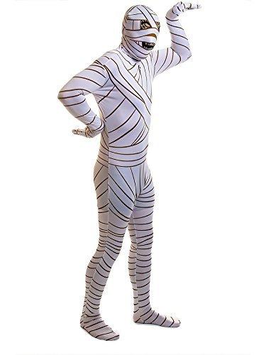 [Rubies 2nd Skin Mummy Jumpsuit - Large, White] (Egyptian Woman Costume Uk)