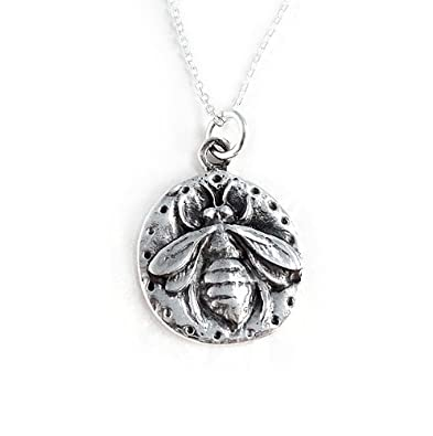 Amazon sterling silver queen bee pendant necklace jewelry sterling silver queen bee pendant necklace aloadofball Images