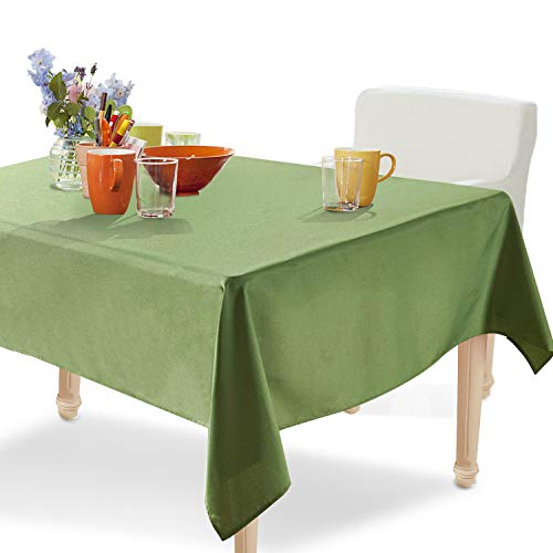- YEMYHOM 100% Polyester Spillproof Tablecloths for Rectangle Tables 60 x 104 Inch Indoor Outdoor Camping Picnic Rectangular Table Cloth (Army Green)