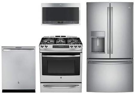 GE perfil 4 piezas Paquete de cocina con Gas gama, deslizante ...