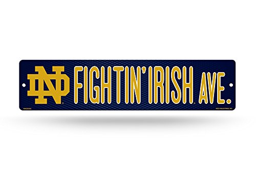 NCAA Notre Dame Fighting Irish 16-inch Plastic Street Sign Décor