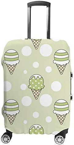 スーツケースカバー アイスクリーム 伸縮素材 キャリーバッグ お荷物カバ 保護 傷や汚れから守る ジッパー 水洗える 旅行 出張 S/M/L/XLサイズ