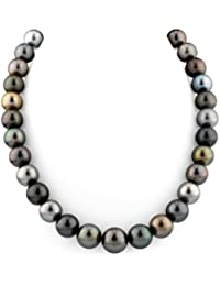 "14K Gold 12-14mm Tahitian South Sea Multicolor Cultured Pearl Necklace - AAAA Quality, 16"" Length"